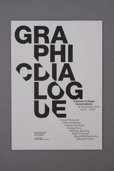 Graphic Dialog - by Tom Hornby - Ik hou van gewoon zwart wit. Dit maakt het ontwerp duidelijk.