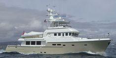 76 - High-speed motor yacht / trawler / flybridge / fiberglass by Nordhavn Trawler Yacht, Trawler Boats, Yatch Boat, Pontoon Boat, Pilothouse Boat, Ocean Fishing Boats, Fishing Yachts, Explorer Yacht, Expedition Yachts