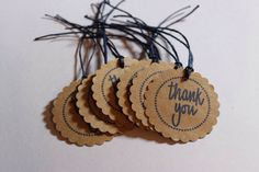 10 Blue Thank You Tags by ThePaperOwl13 on Etsy, $5.00