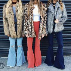 A Mumu Girl's dream outfit: faux fur + flares | Show Me Your Mumu