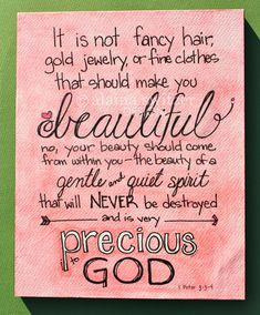 Precious To God hand lettered bible verse