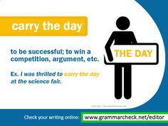 English Grammar - Can you use this idiom in your own sentence?
