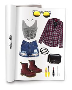 No 1 by mendozakaren on Polyvore featuring polyvore, fashion, style, Rails, Dr. Martens, Givenchy, DaVonna, ZeroUV, Maybelline, MAC Cosmetics and clothing
