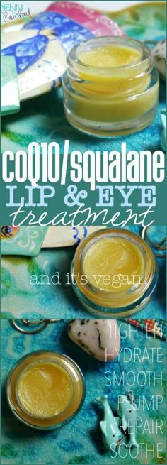 Learn how to make a DIY lip and eye treatment with squalane and This balm will help smooth wrinkles and hydrate delicate skin. Homemade Eye Cream, Face Scrub Homemade, Homemade Skin Care, Face Cream For Wrinkles, Cream For Oily Skin, Eye Cream For Dark Circles, Homemade Moisturizer, Lip Scrubs, Eye Treatment