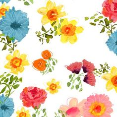if you can believe it-- even more happy floral fabric.