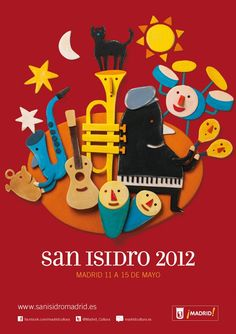 A TEFL Teacher's : Guide To San Isidro. Learn about Madrid´s patron saint. Typo Poster, Jazz Poster, Poster Ads, Graphic Design Posters, Graphic Design Illustration, Illustration Art, Foto Madrid, Photo Composition, Rock Posters