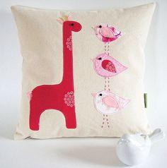 Organic Cotton Canvas/ Taller the Better/Giraffe by dagmarsdesigns, $35.00