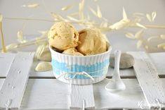 Παγωτό γιαούρτι με καραμελωμένα ροδάκινα Peach Frozen Yogurt, Greek Yogurt, 2 Ingredient Ice Cream, Ice Scream, Homemade Ice Cream, Food Industry, 2 Ingredients, Icing, Kuchen