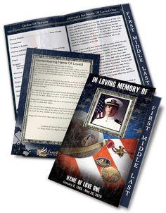 Funeral Program Templates Veteran 01 Brochure