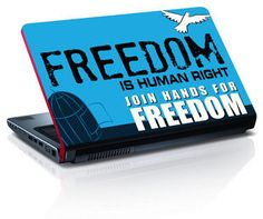 Amore Freedom Is Human Right Republic Day Laptop Skin