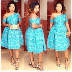 Face Glowing Lace Short Gowns for Fashionable Wedding Guests Latest African Fashion Dresses, African Print Dresses, African Dresses For Women, African Print Fashion, Africa Fashion, African Attire, African Wear, African Women, Chitenge Dresses
