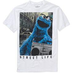 Cookie Monster Big Men's Graphic Tee