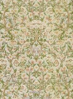 Blossom wallpaper, by William Morris. England, late 19th century