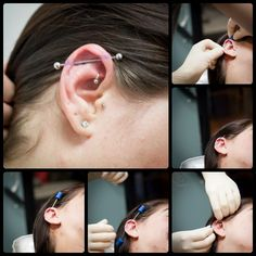 Check out our blog on industrial / scaffold piercings for everything you need to know. Piercing video included!