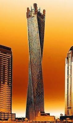 Golden Tower Dubai - Mars ruler thrusts into the sky, this time with a twist, for the sign of Aries.