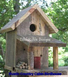 Most Popular Birdhouses Rustic in Your Garden 35 Large Bird Houses, Wooden Bird Houses, Bird Houses Diy, Bird House Plans, Bird House Kits, Homemade Bird Houses, Bird House Feeder, Bird Feeders, Birdhouse Designs