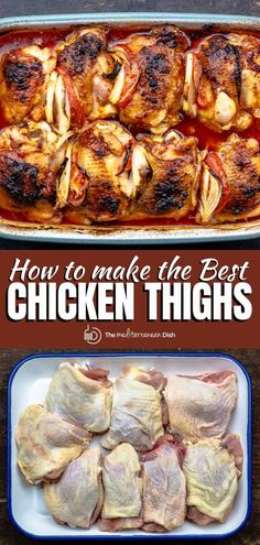 Juiciest Baked Chicken Thighs Recipe Chicken Rub, Chicken Thighs, Eat More Chicken, Best Chicken Thigh Recipe, Chicken Thigh Recipes, Easy Mediterranean Diet Recipes, Mediterranean Dishes, Turkey Recipes, Dinner Recipes