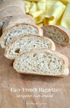 Easy French Baguettes anyone can make-a complete tutorial for making amazingly simple French baguettes - in a food processor or by hand.
