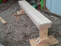 Another view of 7' bench