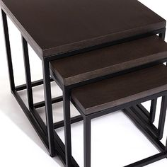 Arianne Graphite Nesting Side Tables