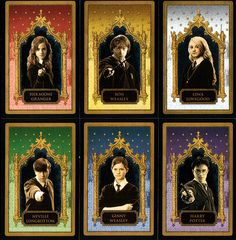 They all got their own Chocolate Frog cards:]