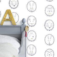 Star Wallpaper by Hibou Home in Silver / White - Stunning range of modern Children's Wallpapers online