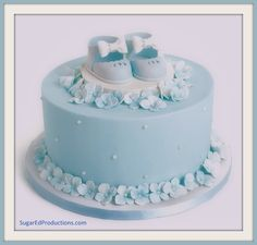 Blue Hydrangea Cake tutorial-   - SugarEd Productions