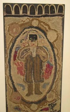 Old hooked rug