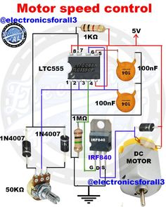 Motor speed control      #electronics #electronica #electronicarts #electronico #electronicrepair #electronicos #electronicsstore Basic Electrical Wiring, Electrical Circuit Diagram, Electrical Projects, Hobby Electronics, Electronics Components, Electronics Projects, Electronics Gadgets, Mechatronics Engineering, Chemical Engineering