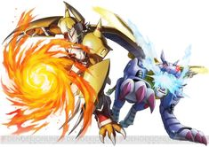 Wargreymon and Metalgarurumon