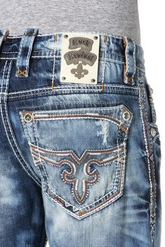 New Mens Rock Revival Alt Straight Jeans Flann 29 30 31 32 33 36 38 Long Rock Style Men, Rock Revival Jeans, Straight Cut, Stretch Jeans, Mens Fashion, My Style, Men's Jeans, Warehouse, Outfits