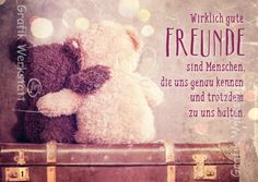 Wirklich gute Freunde - Postkarten - Grafik Werkstatt Bielefeld Good Wishes Quotes, Wish Quotes, Bff Quotes, Friendship Quotes, Funny Quotes, Motivational Books, Funny Inspirational Quotes, Diy Gifts For Friends, Best Friend Gifts