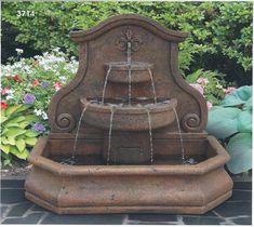 Tuscan patio wall fountain