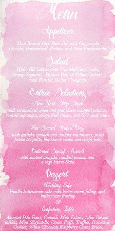 Watercolor Ombre Wedding Invitation Suite