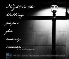 Night is....  #night #quote