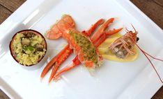 cigala-con-cuscus-de-canaillas-y-maracuya-3 Canapes, Deli, Seafood Recipes, Shrimp, Food And Drink, Alcohol, Cooking, Healthy, Ethnic Recipes
