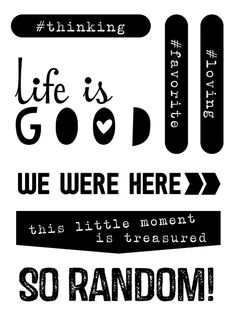Life Is Good Exclusive Stamp from Elle's Studio - coordinates with the July kit