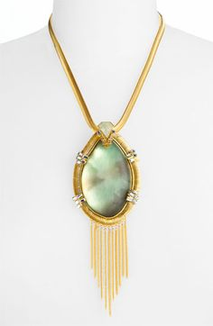 Alexis Bittar 'O'Keeffe' Fringe Statement Pendant Necklace, $412.06