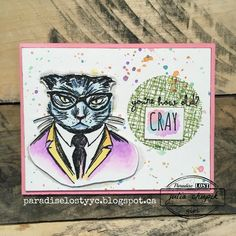 Happy Friday, my crafty friends! I love the new Tim Holtz Hipster stamp set from Stampers Anonymous. They are hilarious! I sta...