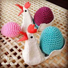 No lugar que chamo Casa...: Transformando caixas de ovos em galinhas - tutorial