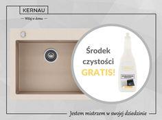 Kup dowolny zlew Kernau z linii H, a otrzymasz mleczko uniwersalne do zlewów stalowych i granitowych za 1 PLN :) http://bit.ly/Kernau_Mleczko_uniwersalne