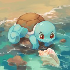 Squirtle by RileyKitty on DeviantArt Kalos Pokemon, O Pokemon, Pokemon Fan Art, Pokemon Funny, Pokemon Fusion, Pokemon Cards, Cute Pokemon Pictures, Pokemon Images, Kawaii Drawings