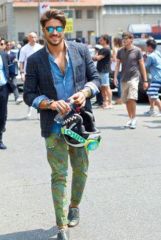 Milan Fashion Week Men Spring Summer 2015 #streetstyle #MFW