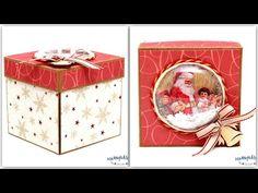 Świąteczny exploding box – Manufaktura Justyny – artykuły do rękodzieła i ozdoby hand made