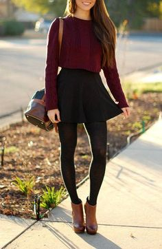 style ankle length boots with crop top
