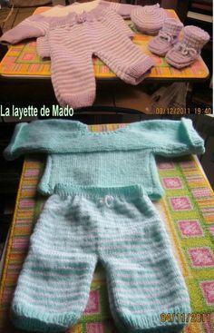 XIX- Le pantalon de Mado. Taille naissance. Modèle gratuit.