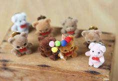 Vintage Flocked Bear & Pig Lapel Pins (set of 8) on Etsy, £4.48