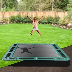 8x11 Rectangle In Ground Trampoline