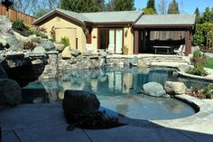 One of the local pools we've worked on here in Northern California's Bay Area Swimming Pool Repair, Swimming Pools, Aqua Pools, Northern California, Bay Area, The Locals, Mansions, House Styles, Gallery