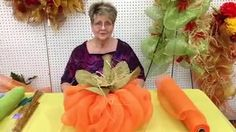 How to make a pumpkin out of deco mesh ribbon